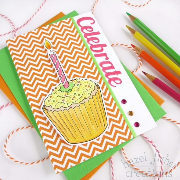 Celebrate Citrus Cake Card diy tutorial hazel fisher creations 4