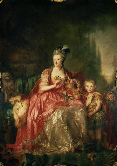 Anna Dorothea Therbusch - Friederike Luise von Hessen-Darmstadt.