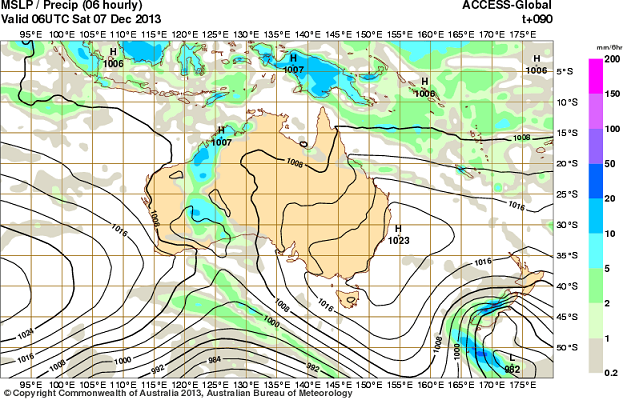 5th -10th dec rain for WA