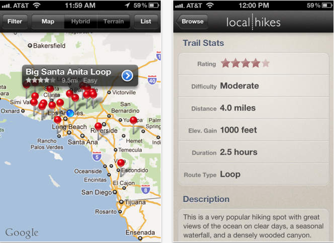 Hike Los Angeles App (11 Best Apps to Make Life Better Living in LA).