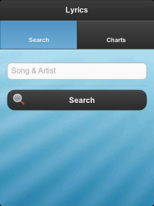 Lyrics v1.0 BlackBerry App