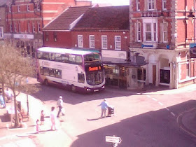 No6 Skegness bus at Horncastle market having come from Lincoln