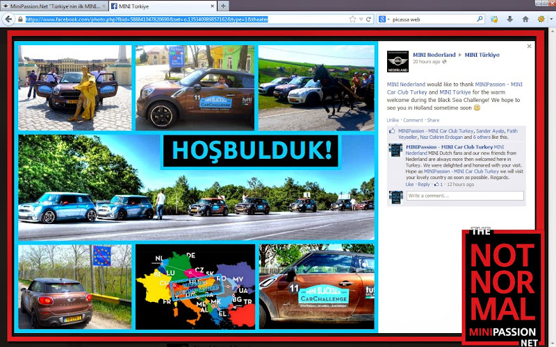 MINI Hollanda nin MINIPassion MINI car club Turkiye ye tesekkuru