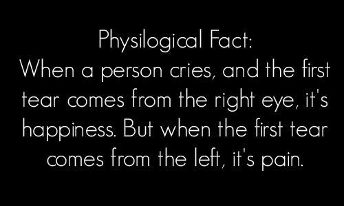 Tear Psychological Fact