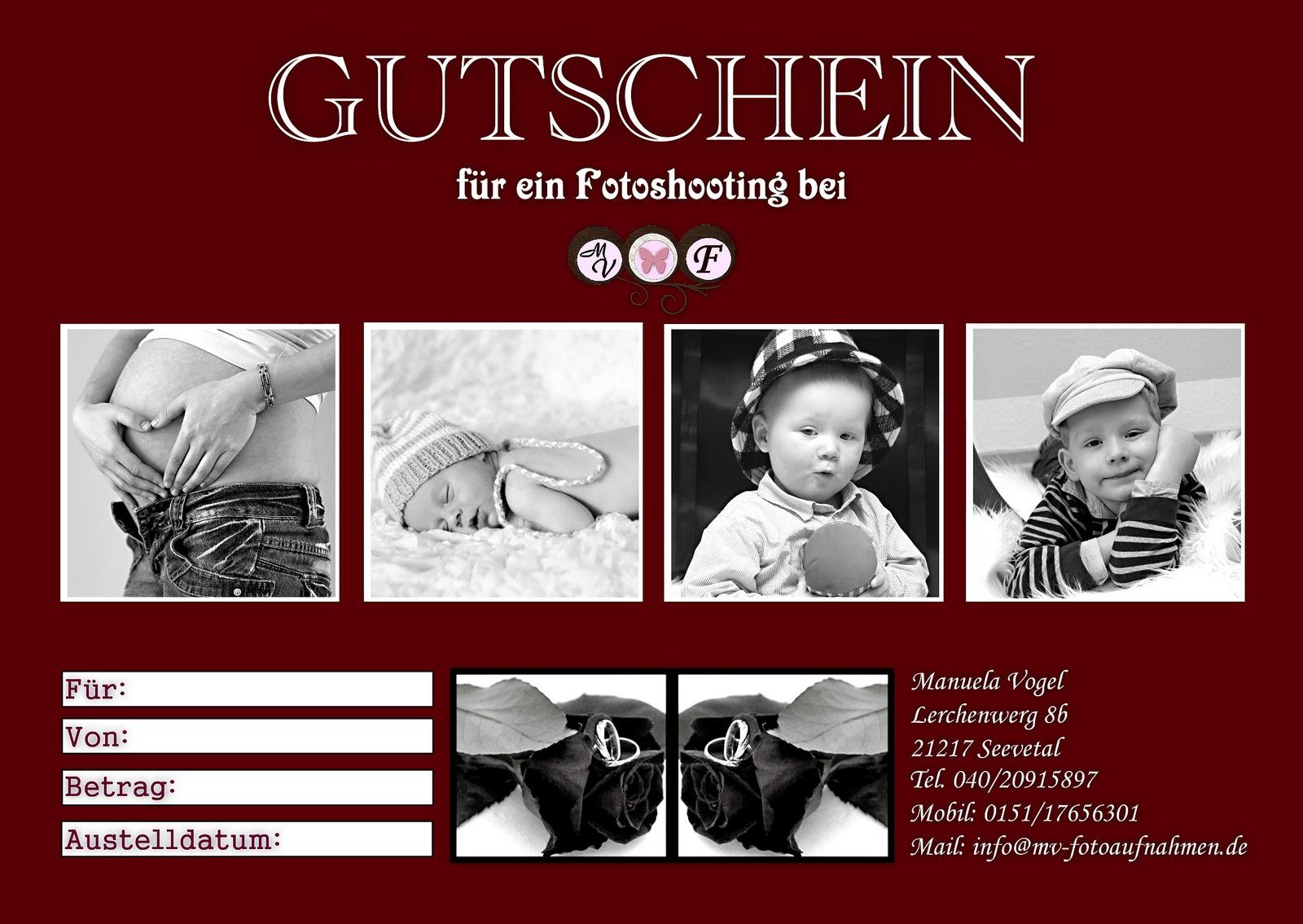 Großzügig Fotografie Geschenkgutschein Schablone Galerie - Bilder ...