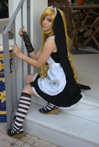 Hana Black Mokona Maid Cosplay