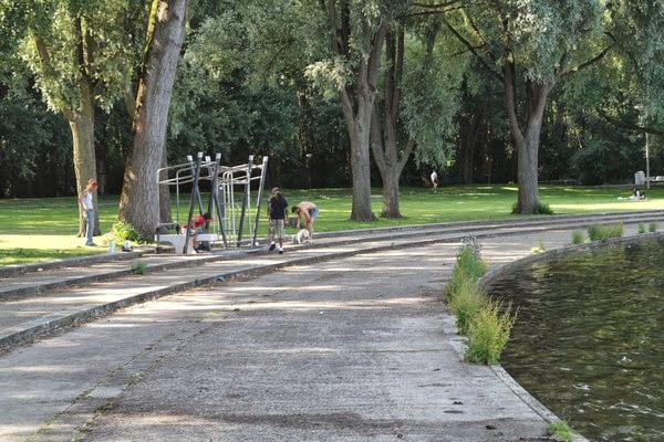 Sloterpark, la piazza d'acqua