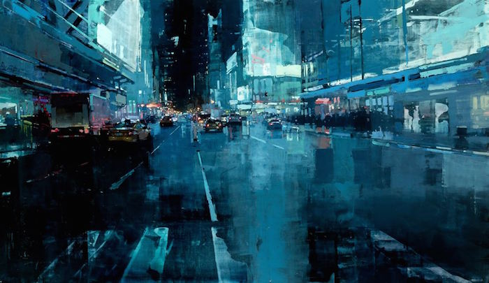 City Streets Vibrate in These Oil Paintings