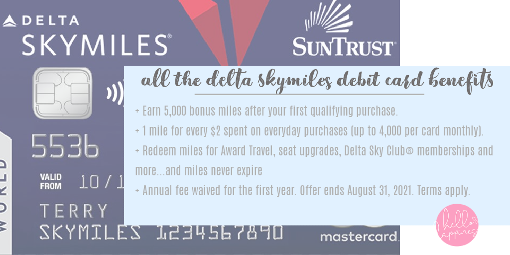 Traveling With Kids by popular Nashville travel blog, Hello Happiness: image of a Delta SkyMiles card.