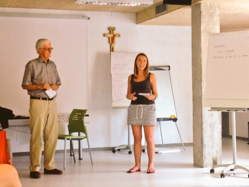 Ed Edink, YMCA Europe President and Alice Firbank YES Seminar Madrid 2016