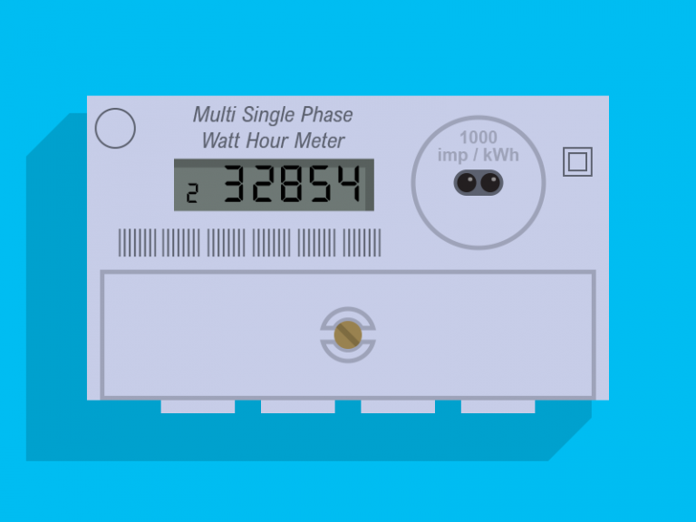 Digital two rate meter
