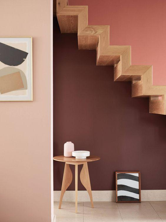 A warm earthy interior created with our Sweeney Brown, Kate Blush and Terracotta Pot paint shades. Produced from quality bases and highly pigmented, these eco conscious paints are available in matt emulsion and eggshell finishes.