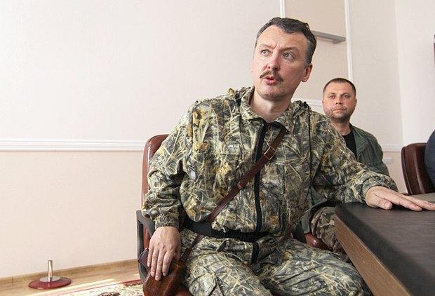 Гиркин (Стрелков) и Бородай в Донецке, 10 июля, 2014 года.