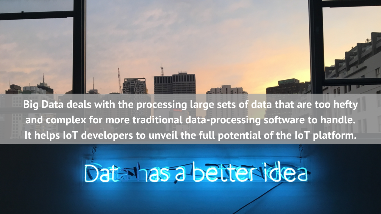 Big data processes large volumes of information at high speeds