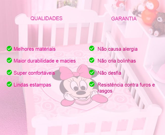 Cobertor de Bebê Jolitex Raschel Lilas Little Princess