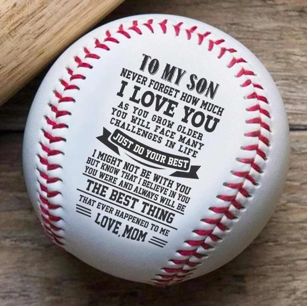 Beiby Bamboo: Personalized Messages Baseball