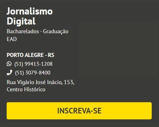 Inscreva-se para o curso de Jornalismo Digital IERGS