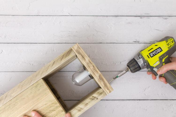 Attach the parts for your DIY solar lamp