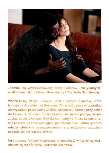 Tył ulotki filmu 'Samba'