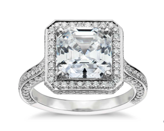 Blue Nile Studio Asscher Cut Royal Halo
