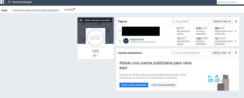 Página de Facebook para llegar al pixel de seguimiento