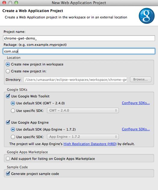 Google app engine for java tutorial.