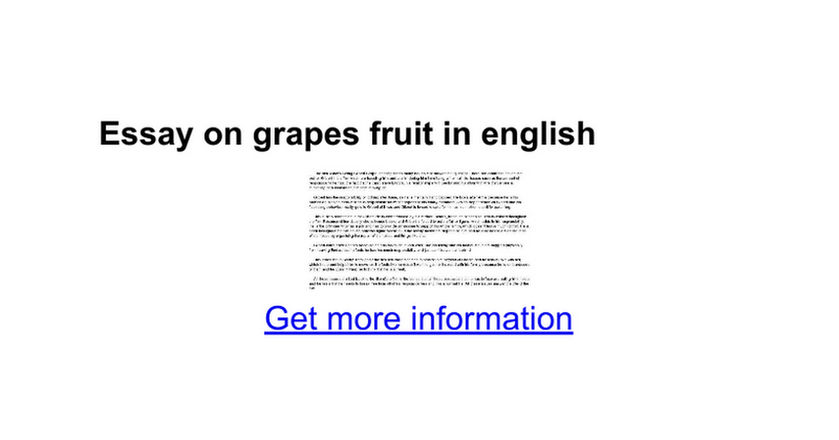 essay on grapes fruit in english google docs