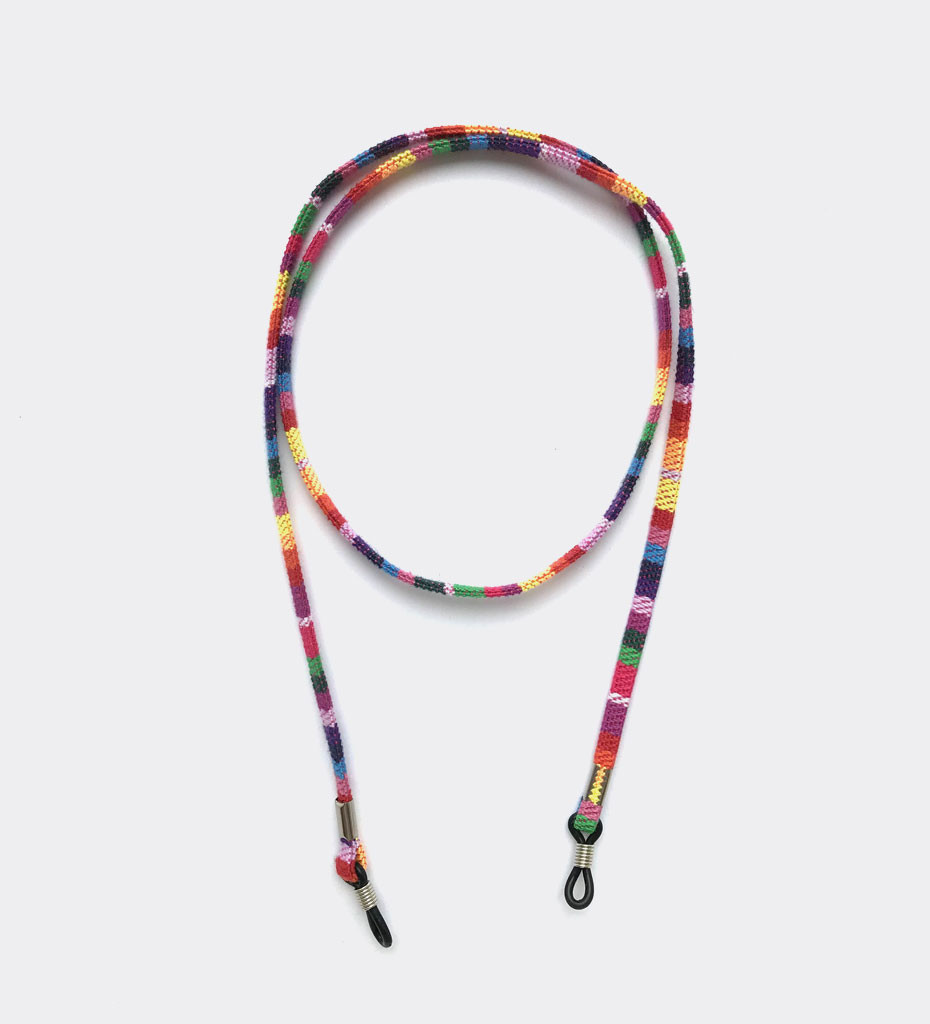 Kolorowy sznureczek do okularów tęcza