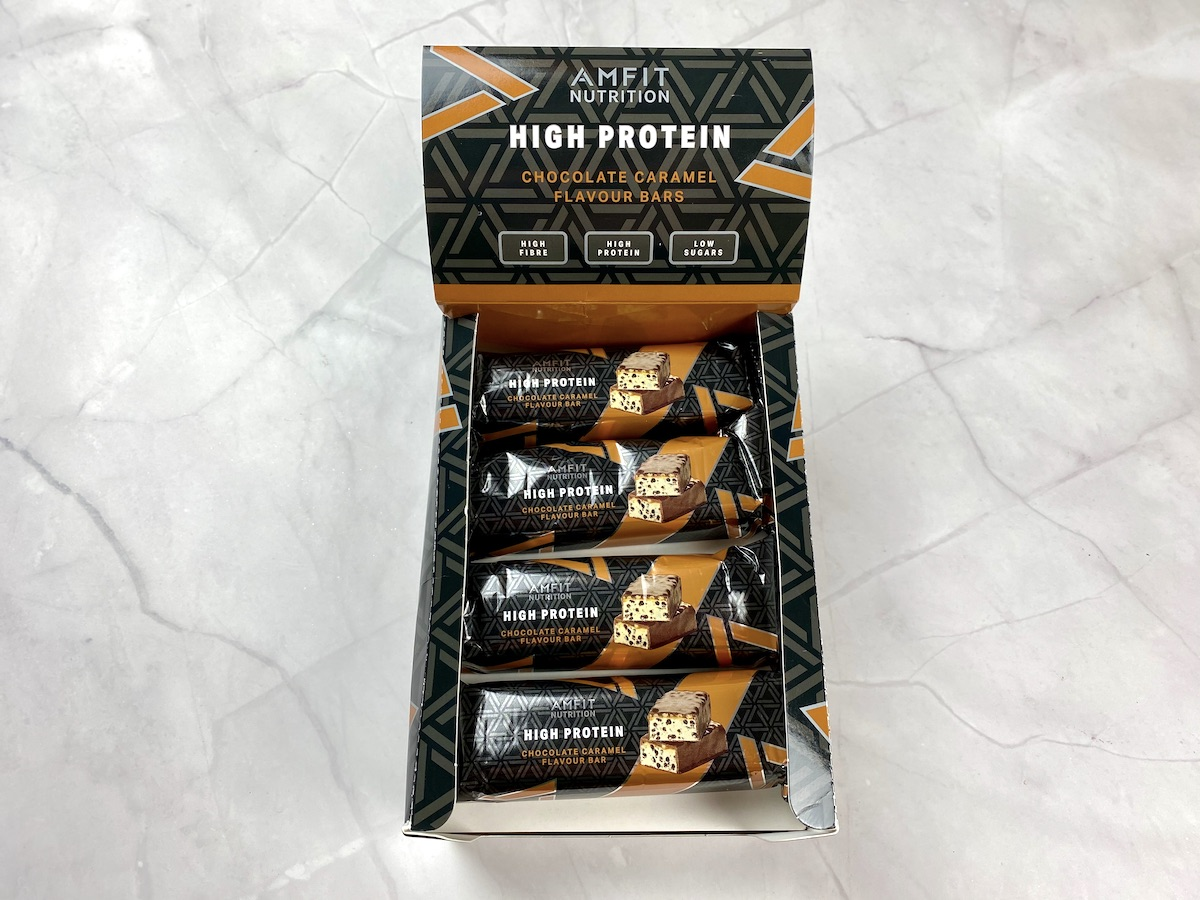 Amfit Nutrition High Protein Chocolate Caramel Flavours