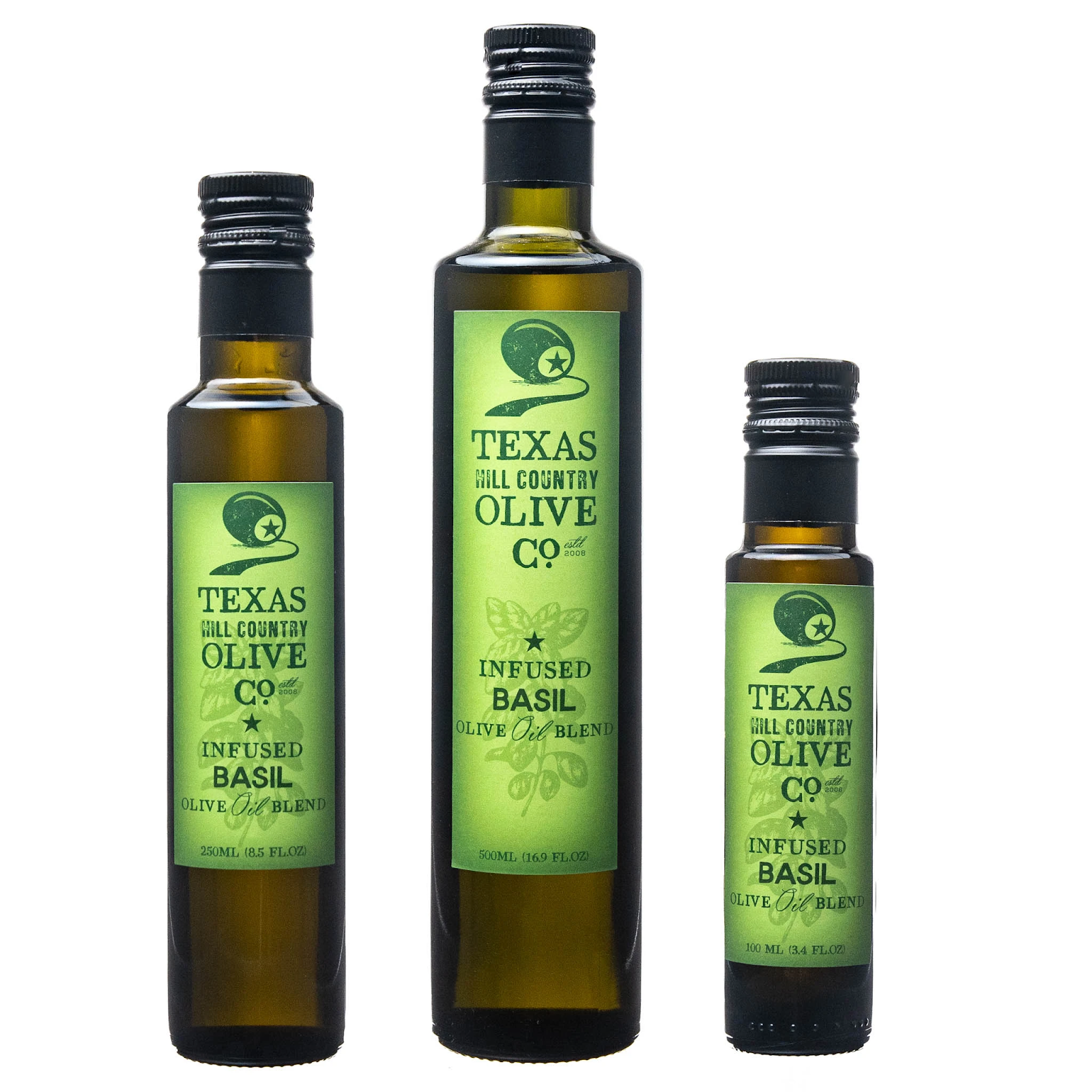Basil Infused Texas Olive Oil