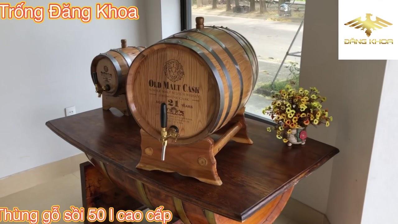 Thùng rượu gỗ sồi có nhiều mẫu mã, kích thước khác nhau