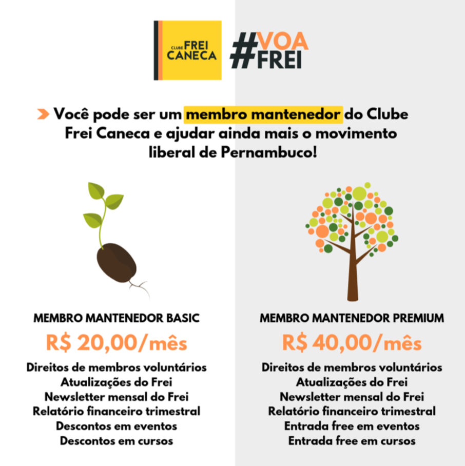 Programa de mantenedores desenvolvido pelo Clube Frei Caneca em Recife.