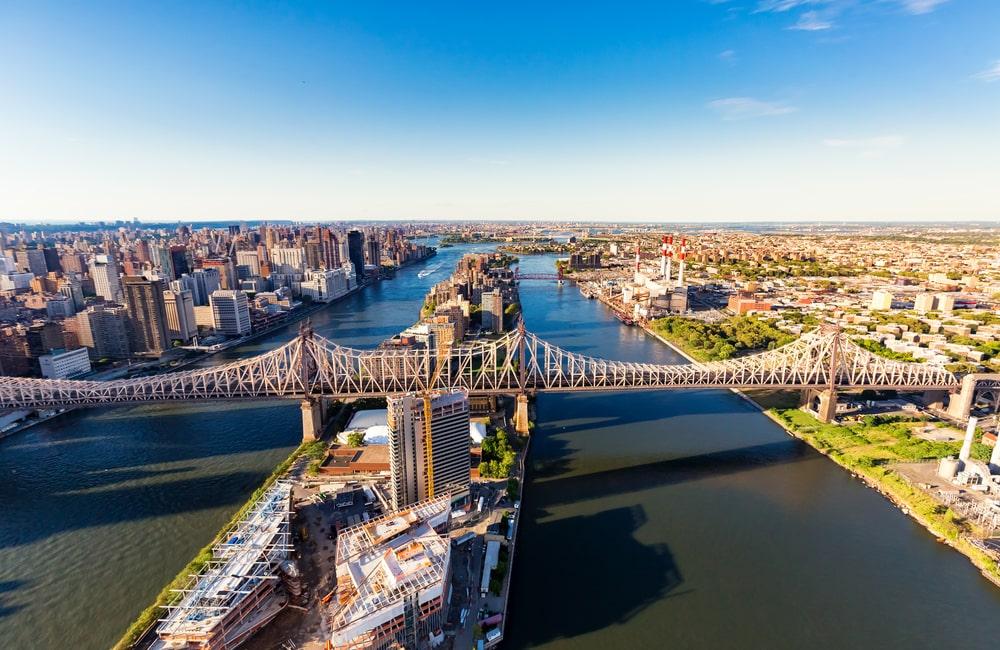 Vista aérea da ponte do Queensboro (Fonte: Shutterstock)