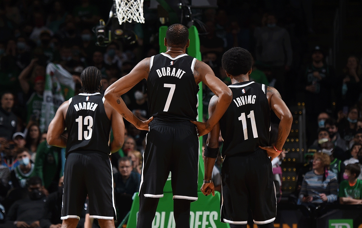 Nets Notes: Kevin Durant, Kyrie Irving, James Harden Open Playoffs With Big  Numbers   Brooklyn Nets