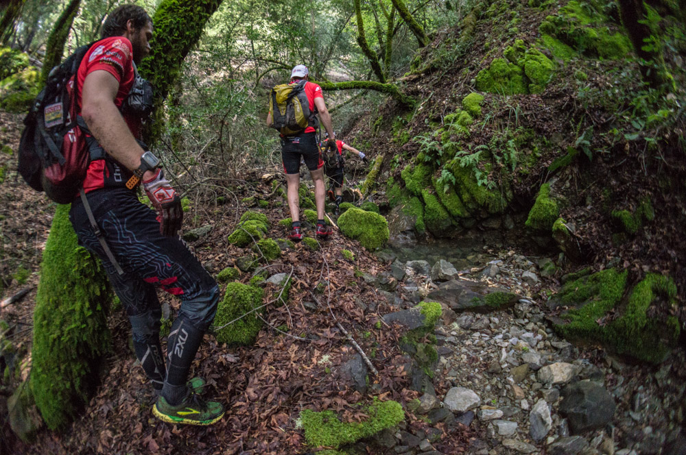 Creek scramble on Mt. Tam