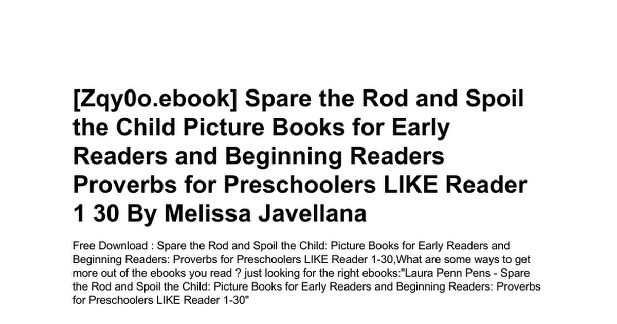 spare-the-rod-and-spoil-the-child-picture-books-for-early-readers