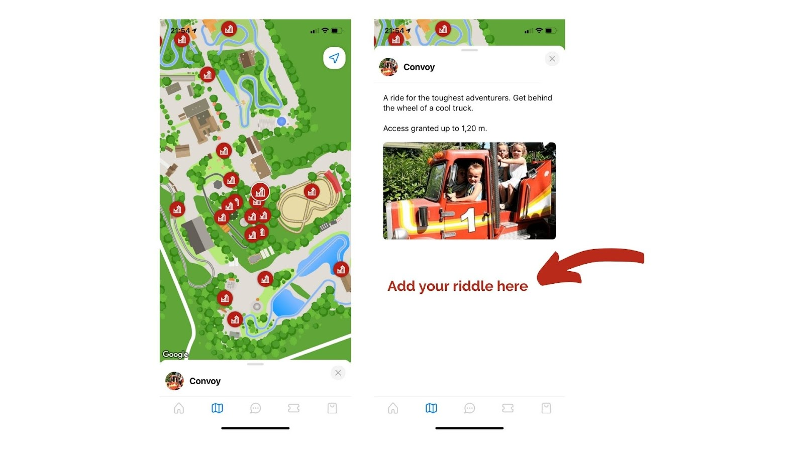 Use your digital park map for a scavenger hunt