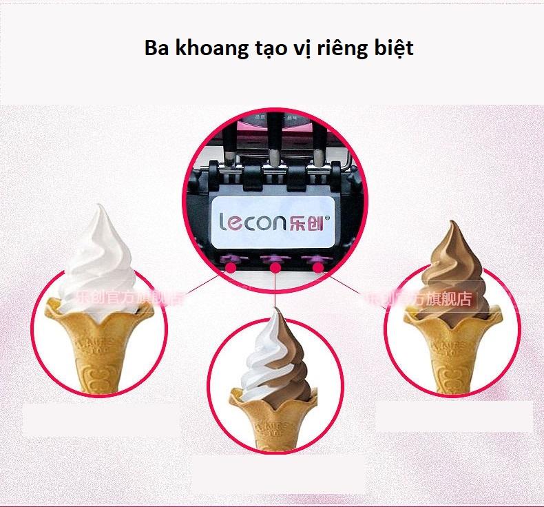 Máy làm kem Lecon tự động - ảnh 1
