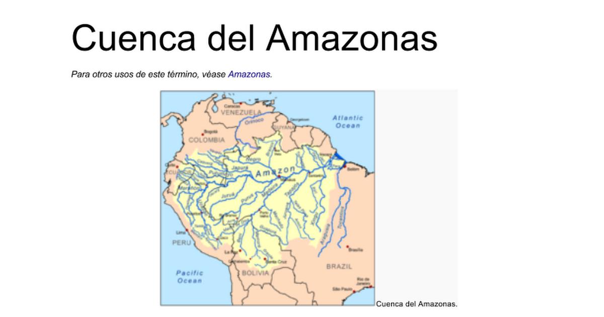 Cuenca Del Amazonas Google Docs