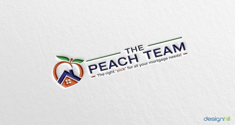 real estate logos the peach team