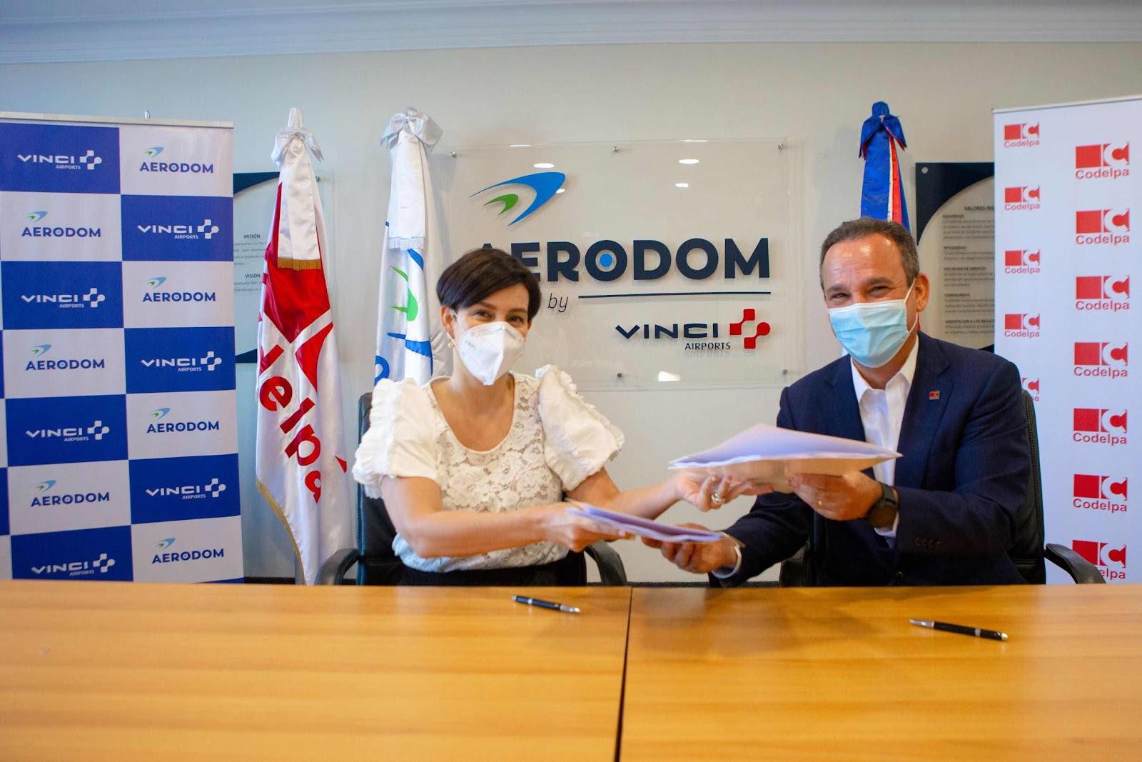 AERODOM firma acuerdo con Codelpa para ejecutar obras remodelación del Aeropuerto Int. de las Américas