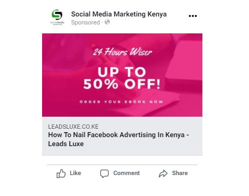 preview of facebook ad in kenya