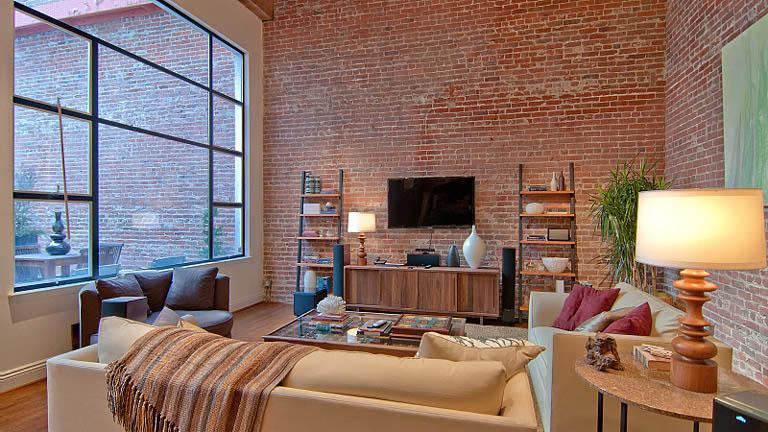 Ladrillo Loft libros impresionante concepto de loft abierto con ladrillos a la vista