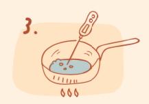 牛軋餅diy-加熱麥芽至130度