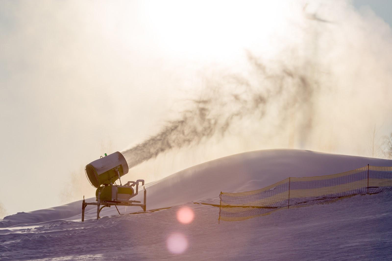 Cañón de nieve en Grandvalira