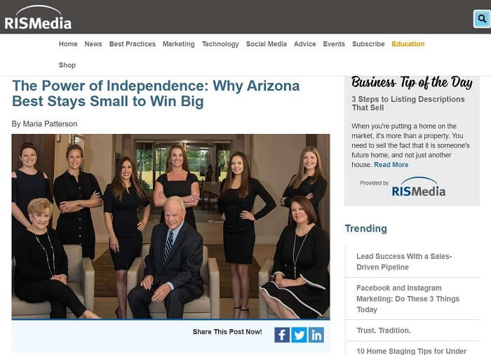 Arizona Best Realty-Interview With RISMedia