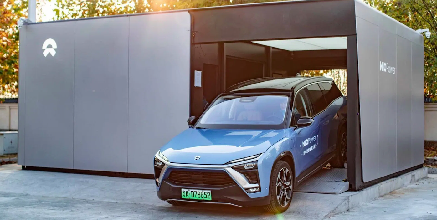 NIO Stock Review Battery Swapping Station