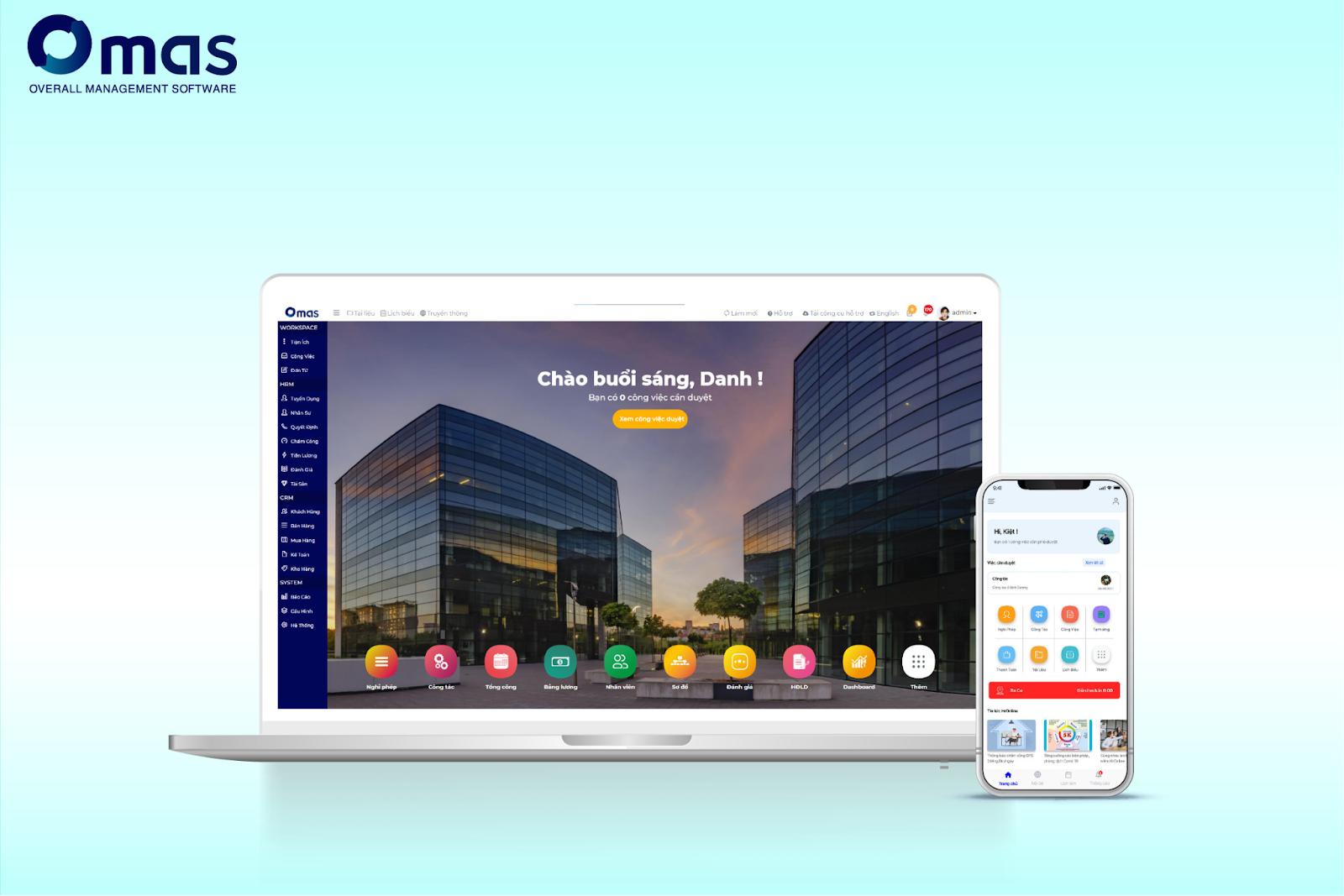 Omas - phần mềm quản lý doanh nghiệp tổng thể