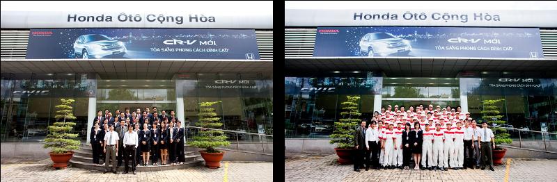 Đội ngũ nhân viên bán hàng, sửa chữa tại Honda Ô tô Cộng Hoà chuyên nghiệp, nhiệt tình