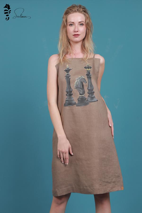 Đầm liền vải đũi đẹp